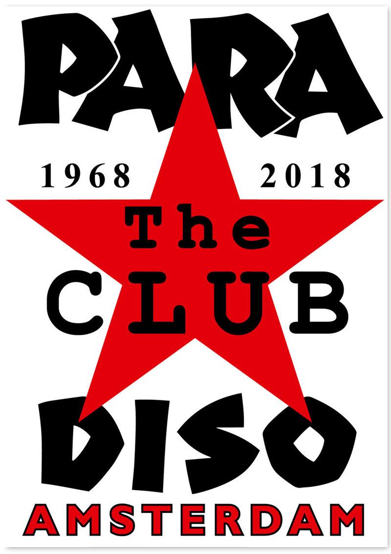 Ed Visser voor 50 jaar Paradiso - 50 Posters