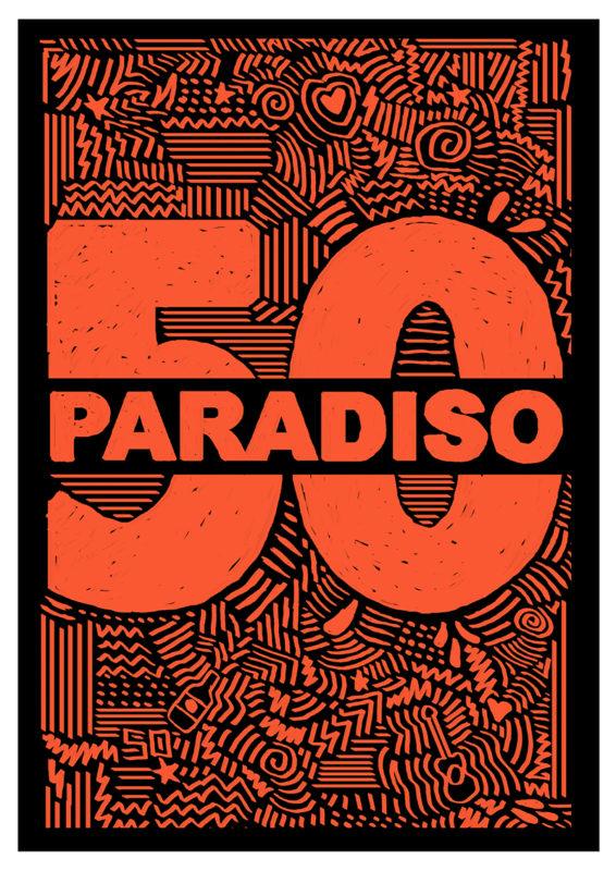 Jesse Koch voor Paradiso 50 jaar - 50 posters
