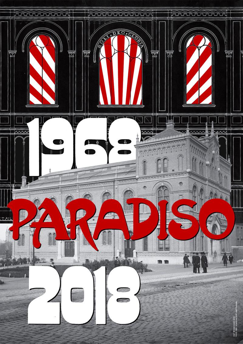 Piet Schreuders voor 50 jaar Paradiso 50 posters