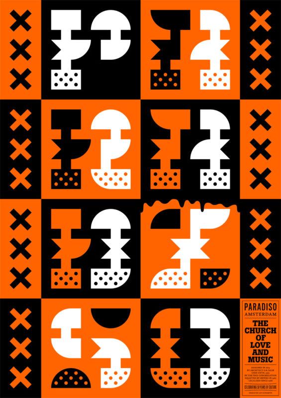 Jay Sunsmith voor 50 jaar Paradiso 50 Posters