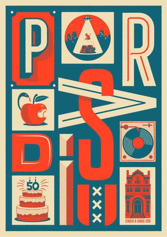 Zender & Chaos voor 50 jaar Paradiso - 50 posters