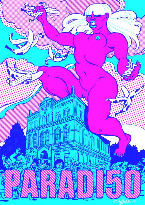 Typex voor 50 jaar Paradiso, 50 posters