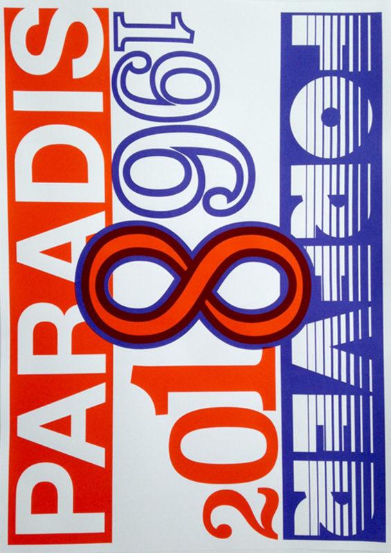 Kees Maas voor 50 jaar Paradiso 50 posters