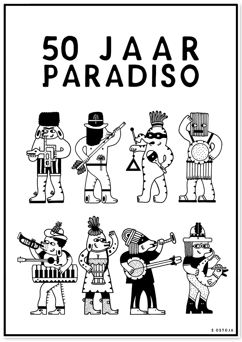 Sasa Ostoja voor 50 jaar Paradiso